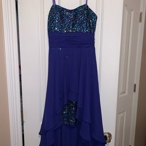Strapless High-low sequin dress